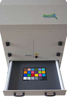 Mach5; open drawer; spectro; spectrophotometer; camera; colour; measure; industry;